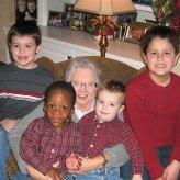 grandma and boys christmas 2012